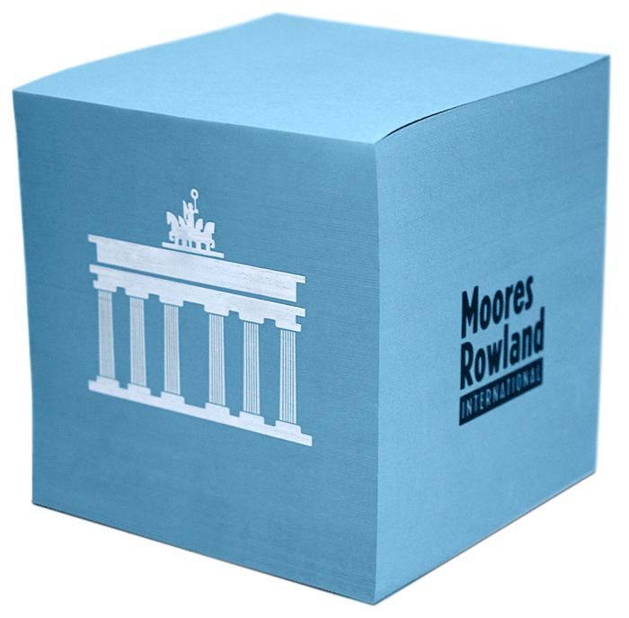Moores Rowland, Notizwürfel, Thomas Heim