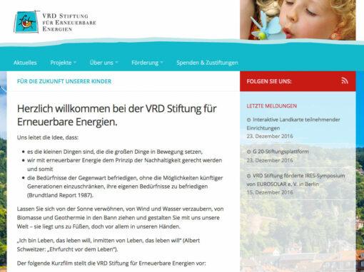 Homepage der VRD Stiftung