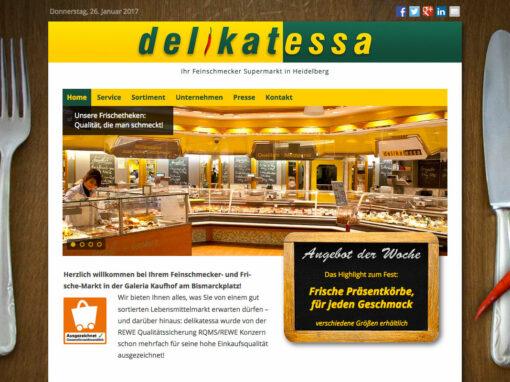 Feinschmecker-Supermarkt, Homepage