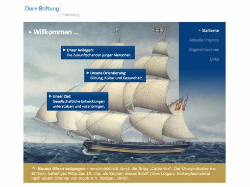Dürr Stiftung Hamburg, Internetauftritt
