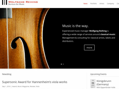 Services for Music, Webseite