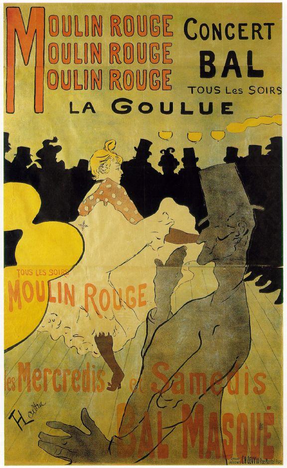 © Webmuseum, Paris – Moulin Rouge Plakat von Henri de Toulouse-Lautrec